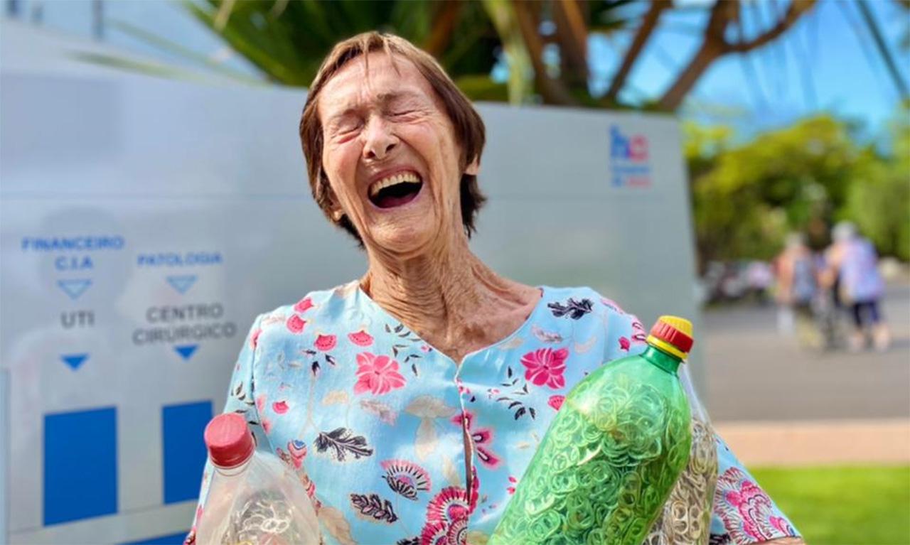 Vovó Dinah: conheça a paciente do HA, que aos 90 anos, é a sensação das redes sociais